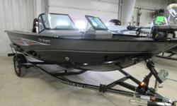 Mercury OptiMax Outboard, 115 HP, Bow Mount Trolling Motor, Fish Locator,Trailmaster Custom Trailer, Red. The Pro Angler series offers the best in fishing features at a tremendous value. Features like a 25 gallon bow livewell, port and starboard rod