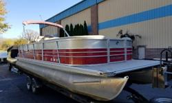 You and your Family will enjoy this preowned Pontoon boat . You can spend all day out on the lake with this Quiet Mercury 90 hp 4 stroke .whether it is pulling the kids on a tube or cruising around you will enjoy a day on the water. If you are looking for