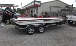 This 2013 Stratos 202 Elite SC (can order other console) comes with a 2013 Mercury 225 Pro XS motor with 25pt tempest prop SST, torque master lower unit, has 41 hours, also has a Minn Kota Fortrex 80 lb. trolling motor. Trailer is tandem axle dual brake