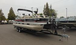 2013 Sun Tracker Fishin' Barge 24 DLX Come to where fishing is a family tradition! Share your love of fishing with the next generation. The SUN TRACKER? FISHIN? BARGE? 24 DLX is the perfect spot for fishing cruises, swim parties and more! There?s room for