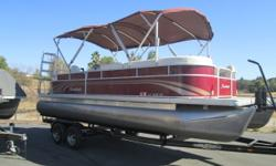 Everyone is always looking for a used pontoon in great condition with low hours...Well here you GO! 2013 Sweet Water 2486 with ONLY 27 HOURS!!! The fuel injected Honda 115 HP 4 Stroke will insure you a lifetime of trouble free, turn key trips to the lake.