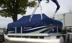 2013 Sweetwater SW1570F Fish 15ft. pontoon blue with Yamaha Hi-Thrust 25hp four stroke EFI motor. Package includes snap-on cover, suntop, docking lights, two fishing chairs, Sony Cd stereo with MP3 and two speakerslivewell,movable cupholder, rod holders.