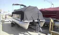 2013 Sweetwater Sw1770C3 17ft. pontoon with Yamah Hi-Thrust 25hp EFI motor. Package includes suntop, snap-on cover, steero with two speakers, docking lights , and table. Motor HP may be upgraded at additional cost. Trailers not included but may be added