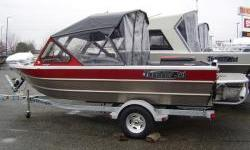 17 1/2 foot jet boat. 2.4 liter Kodiak motor with American Turbine pump. Bow locker with drain, full stand-up top with side and rear drop curtains, four piece EZ access front canvas, four outlet heater/defroster, side bench seats, quick connect for kicker