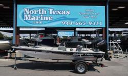 2013 Tracker® Boats Pro 170 Serious about its fishing, and always eager to reel in the big ones! At 16 8 (5.08 m) with a nice and stable 77 (1.96 m) beam, the all-welded, all-aluminum Pro 170 is ready to do some serious fishing.  For storage, there