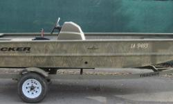 This boat was a buy back from the factory and will be sold as is, but is a good looking utility boat that you can do whatever from duck hunting to fishing. The boat has a brand new 25ELPT fourstroke that will carry full warranty. Nominal Length: 16'