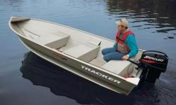The TRACKER® Guide V-14 provides boaters with a lightweight, yet extremely durable, utility boat. It is constructed usinga one-piece welded aluminum hull. This means that you can take it out for years of work or fishing without fear of a few bumps
