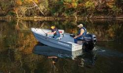 Works hard. Fishes hard. Welcome to our only all-welded Deep V utility boat package. Depending on your needs, the TRACKER® Guide V-16 Laker DLX Tiller is ready to work hard or play hard. Its flat, vinyl-covered floor is ready to take on people, pets or a