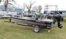 2013 Tracker Pro 165 with Mercury 25ELPT 4 Stroke engine and Trailstar Trailer. Even more value for 2013! The TRACKER Pro 165 is even more pro for 2013. It's now rated for up to 50 horsepower. We've added a lockable rod box, courtesy lights,
