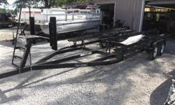 22' long pontoon trailer, built by B&M Mfg. Great condition. See pictures. Nominal Length: 22' Length Overall: 22' Beam: 8 ft. 0 in.