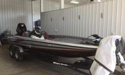 Tournament ready Bass Boat, including-Motorguide x5 36volt, Lowrance HDS-8 w/structure scan, Hds 7, Hotfoot, Trim lever, Hyd Jackplate, 4 bank charger and a cover   With its radical hull design and shock absorbing seats, our 21XS is the ultimate