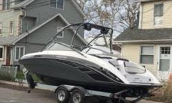 2013 Yamaha AR 240 HO 2013 Yamaha AR240 Twin Engine High Output Low hours! 89 hours. Seats 11 people comfortably. Brand new JL audio speaker system. LED multi-color light within the cabin. Garage kept in the winter. Fiberglass hull material. Seats 11