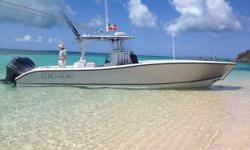 Yamaha F300's ,Helm Master® Joystick & Extended Warranties Engine Warranties thru July 2019 Silver Hull Wrap Extensive Furuno, Fusion & JL Audio Electronics Nominal Length: 36' Length Overall: 36.7' Max Draft: 3' Drive Up: 1.7' Engine(s): Fuel Type: