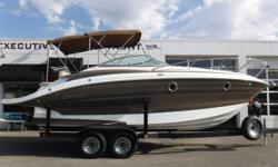 PRICE JUST REDUCED TO $69,900!! MerCruiser 8.2L MAG HO, 430 hp engine, aprx 97 hours Bravo III dual-prop sterndrive w/stainless props Metal Craft 2-axle trailer w/electric brakes, custom rims, aluminum step plates, side guides & spare tire Halon Dual