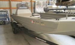Clean used fishing boat with Minn Kota Power Drive V2 trolling motor, Lowrance X-4 Pro locator, live well, and 60 hp Yamaha. Must see! Beam: 6 ft. 5 in. Depth fish finder; Trolling motor;