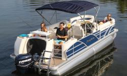 Got a family that likes to fish as much as they enjoying cruising and watersports? The Aqua Patio 220 DF is guaranteed to give you the best of both worlds. Nominal Length: 24.3' Engine(s): Fuel Type: Other Engine Type: Outboard Beam: 8 ft. 6 in. Fuel tank