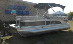 2014 Bennington SL21 Pontoon & 50HP Yamaha High Thrust 4-Stroke Outboard. Motor Runs Great! This Pontoon Features, Front Bench Seating With Storage, Wrap Around Bench Seating With Additional Storage, Sun Deck With Storage, Comfortable Captains Seat, Helm