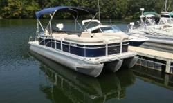 GET READY FOR SPRING!! 2014 Bennington 24 SLX TRI-TOON - Yamaha 150HP 4-Stroke - ONLY 100 Hours (approx) 2014 Marine Master Trailer Blue w/ Blue Canvas Nominal Length: 24' Engine(s): Fuel Type: Other Engine Type: Outboard