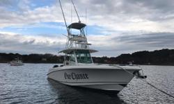 "Only 350 Outrage Available With a Tower  Carbon Outriggers Triple Mercury Verado 350 SCI's With only 250 Hours Bow Thruster  30-Amp Shore Power Inlet with Battery Charger & Galvanic Isolator Twin 15"" Raymarine gS165 GPS With"