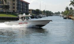 """BONE 4 TUNA"" is the highest spec 37' 2014 Boston Whaler Outrage currently for sale. She is captained maintained and she shows it throughout. She has heavy duty electronics for the hard core fishing and rigged for tournament fishing if desired. She is the"