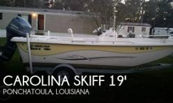 Actual Location: Ponchatoula, LA - Stock #097905 - ONLY 14 HOURS!!!!This 2014 Carolina Skiff is basically brand new, with only 14 hours on the engine. No reason to buy new with this one on the market.She is powered by a 115 Yamaha Four stroke and only 14