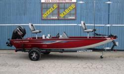 Mercury 60 HP FourStroke EFI * Minn Kota 24 volt / 70 lb. thrust trolling motor * Lowrance Hook 3 fish finder flushmounted at helm * Bow located outboard motor trim switch * Bow lockable center storage compartment * Port side bow lockable rod storage w/