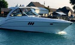 Hard to find, late model, one owner, always freshwater. Meticulously maintained, with valuable updates. New canvas with polycarbonate forward glass. Satellite TV & Radio. Cockpit TV. This boat won't last long, call for a showing. Stored inside heated