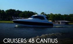 Actual Location: Afton, OK - Stock #082528 - This vessel was SOLD on August 18.If you are in the market for a motor yacht, look no further than this 2014 Cruisers 48 Cantius, just reduced to $638,888 (offers encouraged).This vessel is located in Afton,