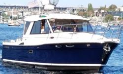 New to the market, this 2014 Cutwater 28 is loaded up with many extra options (owner added options in bold italics), including: Garmin color GPS, Chartplotter, Radar and fully integrated Garmin Autopilot WiFi direct GPS interface for routes transfer from