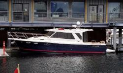 This cleanCutwater 30 Sedan has only been moored in freshwater with two seasons of use on Lake Michigan and now residing on Seattle's Lake Union. She has ~200 hours on the clock with a recent fluid and filter service.  100% turnkey and