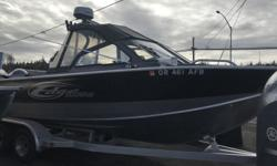 2014 Edge Marine 23 sport Low Hours This 2014 Edge Marine is paired with a custom Edge Marine trailer and a Yamaha F200XB motor with 125 hours. It also has a Yamaha T9.9 Kicker. Equipped with off shore bracket, sim ladder with grab handle, two large bench