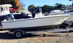 2014 EdgeWater 188 CC,Powered By Yamaha F150HP Four Stroke W/ Only 70 Hours!!!Yamaha Extended Warranty Thru 11/19/2019!!!White Hull, Garmin 741 XS 7 Touchscreen GPS/ Chart/ Fish/ Depth, Fusion 600 AM/FM w/ JL Speakers, Leaning Post Seat w/ 2 Rocket