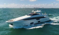 The Ferretti 960 is the newest and largest yacht of the Ferretti lineup. Launched in 2014, it drew critical acclaim from industry designers for its innovative transom design. Although it retained some of the previous design features of it's popular little