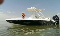 Only 110 hours on this fresh water only gem! All out race inspired high lift ventilated step hull with high performance setback molded transom makes this Glastron a rocket on the water. The fiberglass grid stringers with 2 lb. density foam mean not only