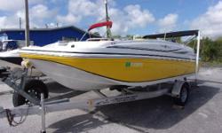 2014 Hurricane Sundeck Sport in great condition.  Comes with a Yamaha F150, aluminum trailer w/ brakes, boat cover, bimini top, stereo, freshwater washdown, trolling motor, gps/depth finder, and more.   Nominal Length: 18' Length Overall: