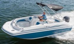 Packed with standard features, the versatile SunDeck Sport 188 OB will help you enjoy a fun-filled day on the water. Nominal Length: 18.8' Length Overall: 18.8' Drive Up: 1.1' Engine(s): Fuel Type: Other Engine Type: Outboard Draft: 1 ft. 1 in. Beam: 8