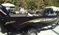Lowe FM 165 Pro SC with 90 HP MERCURY OPTIMAX and trailer. This boat model may or may not be in-stock. Please contact your local, authorized dealer for more information For the serious angler who expects professional-grade amenities but doesnt want