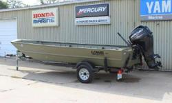 2014 Lowe RX1860 with Mercury 40ELHP 4 Stroke and a Karavan Trailer Built for maximum utility for the toughest jobs, the Roughneck 1860 was also designed with lasting durability in mind. This commercial-grade jon boat sets the standard for top-quality