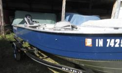 Price includes a Mercury 9.9 ELHPT PK with power tilt, electric start, 2016 Bear Trailer, two fishing seats and Livewell. Sale Price $4,199.00 Nominal Length: 14' Length Overall: 14' Beam: 5 ft. 4 in.