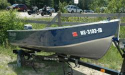 If you love to fish, this is the boat for you! A very clean MirroCraft 14' Utility V, the engine that propels it is an Evinrude 15 HP Tiller. Here is your opportunity to get on the water and do some serious fishing. You get the boat, motor, trailer,