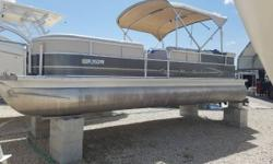 Just In On Trade 2014 Misty Harbor 245 CR Pontoon Powered By A Mercury 115 HP Outboard Four Stroke Motor. Equipped With Bimini Top, Swim Ladder, Porta Pottie, GPS / Fish Finder, Stereo And Mooring Cover.