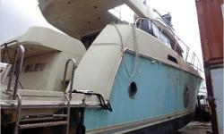 General Description 3 cabins Actual Condition It is reported this 49' Monte Carlo sank during Hurricane Irma and was fully stripped. She has a few holes in the hull. This will make a great project boat! *Please inspect carefully before making an offer.