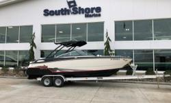 Freshly cleaned, detailed and mechanically serviced November 2018. This Monterey offers ample seating in both the bow or aft areas. Aft bench seat converts into a sun lounge right next to the swim platform. Enjoy cockpit storage, a removable cooler and an