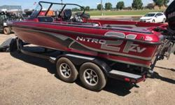 2014 Nitro ZV21 walk-thru2014 Mercury 250XL Pro XS Optimax (92 hours. Mercury Gold Warranty thru March 2019)2013 Mercury 9.9 ELHPT BF 4S2014 Trailstar tandem axle bunk trailer w/ swing tongue, spare tireMinnkota Ulterra 112 IPilot bow - Lowrance
