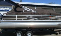 2014 Premier Castaway 221 Yamaha 90hp 4-Stroke EFI, Trim/Tilt, Playpen Cover, Bimini Top, 4 Fishing Seats, 2 Livewells, Depth Finder, Table, Boarding Ladder, Stereo, Pop-Up Changing Room, Built in Fuel Tan