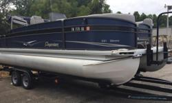 2014 Premier Gemini 221, NICE USED 2014 PREMIER GEMINI 221 PONTOON. THIS IS A CONSIGNMENT BOAT. IT IS IN VERY GOOD CONDITION AND COMES WITH A SUZUKI 115 4-STROKE ENGINE AND TRAILER. ALSO INCLUDES SNAP-IN CARPET. CALL OR EMAIL FOR MORE INFORMATION. Nominal