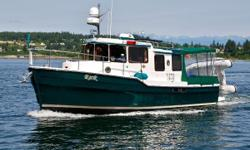 This turn-key Ranger Tug is Boathouse kept, with a low hour Volvo D-4 300 Hp engine with six new AGM batteries and abundant spares.  Webasto diesel heat, an excellent electronics suite, Tender, enclosed cockpit, custom helm seat, inverter supplied by