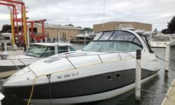 Well equipped mid cabin express with less than 100 hours. This boat is ready to go. Trades Considered. CANVAS CAMPER CANVAS - BLACK DECK ANCHOR W/ LINES FENDERS & LINES RADAR ARCH - FORWARD SPOTLIGHT TRANSOM SHOWER WALK THROUGH WINDSHIELD WINDLASS -