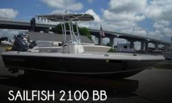 Actual Location: Pensacola, FL - Stock #106939 - If you are in the market for a fishing boat, look no further than this 2014 Sailfish 2100 BB, just reduced to $44,900.This boat is located in Pensacola, Florida and is in great condition. She is also