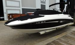 BROKERAGE BOATWhite and Black Hull, Black Canvas, Cognac (Caramel/Tan) Interior Engine(s): Fuel Type: Gas Engine Type: Stern Drive - I/O Quantity: 1 Beam: 8 ft. 4 in.